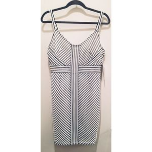 White and Black Geometric Pattern Dress Tags On